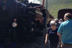 Dampffahrt über die Furka-Bergstrecke